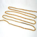 Click here to enlarge image and see more about item 4017-2: Gold Mercury Glass Beaded Christmas Garland Large Beads