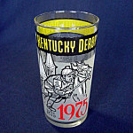 Click here to enlarge image and see more about item 4027: 1975 Kentucky Derby Glass Mint