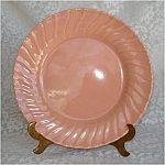 Click here to enlarge image and see more about item 4318: Franciscan Coronado Coral Gloss Pink Luncheon Plate