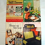 Click here to enlarge image and see more about item 5360: Four 1950s Crochet Pattern Instruction Booklets, Nice Variety of Patterns