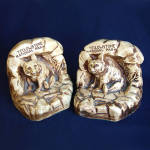 Click here to enlarge image and see more about item 4527: Yellowstone Park Souvenir Chalkware Bear Bookends