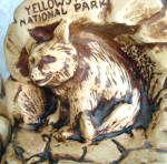 Click to view larger image of Yellowstone Park Souvenir Chalkware Bear Bookends (Image3)