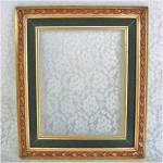Click here to enlarge image and see more about item 5004: Gold Gilt Green Velvet Picture Frame for 8 by 10 Print