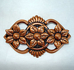 Click here to enlarge image and see more about item 5072: Pretty Copper Flower Brooch