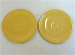 Click here to enlarge image and see more about item 5090: Pair Fiesta Yellow 6 Inch Bread Plates