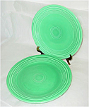 Click here to enlarge image and see more about item 5092: Fiesta Light Green Luncheon and Dinner Plate