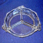 Heisey Waverly 3 Section Round Relish Dish