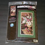 Flowers on a Pedestal Needlepoint Kit, Barbara Mock Dimensions