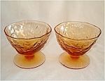 Click here to enlarge image and see more about item 5311: Seneca Driftwood Casual 2 Amber Sherbet Champagne Glasses