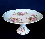Lefton Heavenly Rose Pedestal Comport or Bon Bon Plate