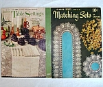 Click here to enlarge image and see more about item 5335: Pair Tablecloths, Table Linens Crochet Pattern Booklets