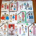 Click here to enlarge image and see more about item 5337: Lot of 11 Baby and Toddler Clothing Sewing Patterns