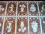 Click here to enlarge image and see more about item 5344: Lace Net Curtain or Fabric Panel Scenes of Children