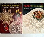 Click here to enlarge image and see more about item 5359: 2 1950s Coats Clark Ruffled Doilies Crochet Pattern Books