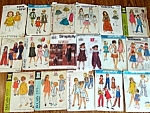 Lot of 17 Kids Clothing Sewing Patterns Size 5 to 6