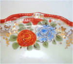 Click to view larger image of Antique Japan Hand Painted Floral Serving Plate (Image2)