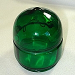Click here to enlarge image and see more about item 5533: Green Glass Lantern Globe or Lens Cover