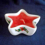 Click here to enlarge image and see more about item 5556: Pfaltzgraff Christmas Heritage Star Candle Bowl
