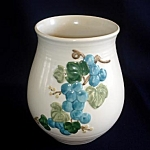 Click here to enlarge image and see more about item 5661: Metlox Sculptured Grape Canister or Vase