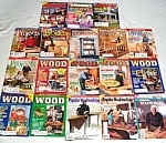 Click here to enlarge image and see more about item 5829: Lot of 18 Woodworking Magazines Plans and Patterns