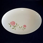 Click here to enlarge image and see more about item 5898: Franciscan China Pink-A-Dilly Oval Serving Platter