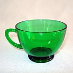 Click here to enlarge image and see more about item 6077: Anchor Hocking Forest Green Punch Cups, 13 Available