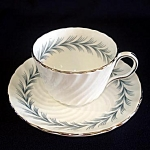 Click here to enlarge image and see more about item 6081: Aynsley Mayfair Bone China Demi Tea Cup and Saucer