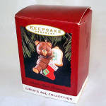 Click here to enlarge image and see more about item 6147: Hallmark 1995 Child's Age Third 3rd Christmas Ornament