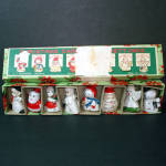 Click here to enlarge image and see more about item 6150-3: Box Commodore Porcelain Christmas Character Place Card Holders