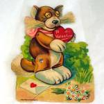 Click here to enlarge image and see more about item 6307: Germany Mechanical Cat Valentine Card