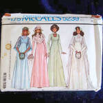 Click here to enlarge image and see more about item 6365: McCall's 1976 Bride and Bridesmaid Wedding Dress Pattern Size 14 Uncut