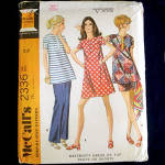McCall's 1970 Maternity Dress, Top, Pants, Shorts Sewing Pattern Uncut Size 14