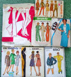 Lot of 7 Uncut Size 18 Vintage Ensemble, Dress, Clothing Sewing Patterns
