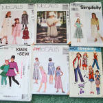 Click here to enlarge image and see more about item 6393: Lot of 6 Sewing Patterns Girls Clothing Sizes 7 through 10 Uncut
