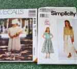 Click to view larger image of Lot of 6 Sewing Patterns Girls Clothing Sizes 7 through 10 Uncut (Image2)