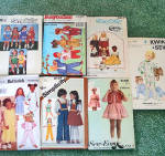Click to view larger image of Lot of 7 Children's Clothing Sewing Patterns Sizes 4 - 8, Most Uncut (Image1)
