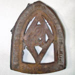 Click to view larger image of Antique Number 2 Sad Iron and Trivet (Image3)