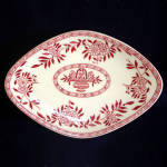Sterling Red Transfer Restaurant Ware Chop Suey Serving Dish