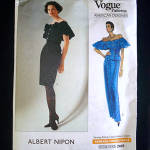 Click here to enlarge image and see more about item 7174: Vogue 1989 Albert Nipon Skirt Dress Sewing Pattern Uncut Size 6-10
