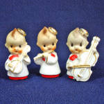 Click here to enlarge image and see more about item 7198-2: Kewpie Style Choir Boy Figurines 1950s Japan