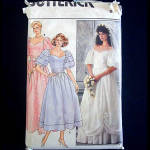 Click here to enlarge image and see more about item 7216: Butterick 1985 Wedding Bridal and Bridesmaid Dress Sewing Pattern Uncut Size 8