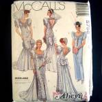 McCalls 5758 Glamorous Alicyn Wedding Gown Sewing Pattern Size 10 Uncut