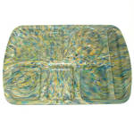 Khaki Green Blue Confetti Speckle Melmac School Lunch Tray