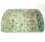 Click here to enlarge image and see more about item 7299-4: Green and Brown Confetti Speckle Melmac School Lunch Tray