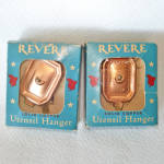 Click here to enlarge image and see more about item 7527-3: Pair Revere Ware Solid Copper Utensil Hangers