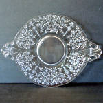 Click here to enlarge image and see more about item 7564-6: Fostoria Arcady Handled Cake Plate