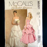 McCalls Strapless Bridal Gown Sewing Pattern Size 14 - 20 Uncut
