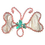 Click here to enlarge image and see more about item 7809: Antique Butterfly Wired Metal Mesh German Christmas Ornament