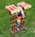 Lawnplay Vintage Croquet Set With Cart, Complete
