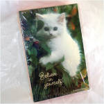 Click here to enlarge image and see more about item 8050: Believe In Yourself White Kitten Springbok 100 Piece Jigsaw Puzzle Sealed